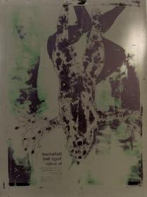 Untitled, 1998; Waterless lithograph matrix; Object size: 36 x 25 1/2