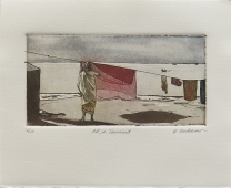 """Quenby Bucklaew; All Is Transient, 2006; Etching, aquatint; Object size: 208 x 253 mm; from the """"Desire/Identity"""" portfolio"""