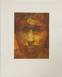 "Mary Borcherding; Resolve, 2006; Etching, relief; Object size: 255 x 204 mm; from the ""Kathryn: A Printmaker"" portfolio"