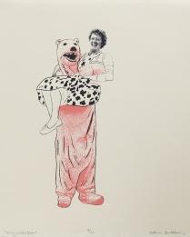 "Katherine Rowbotham; Nanny and the Bear, 2008; Digital inkjet; Object size: 252 x 201 mm; from the ""Kathryn: A Printmaker"" portfolio"