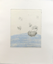 Dispersant Transformations: II State, 2012; Etching, screenprint; Obj size: 14 x 16 inches