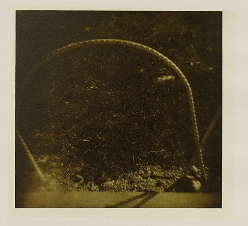 Untitled (rebar hoop), 1992; Film matrix collotype, chine colle; Object size: 508 x 381 mm