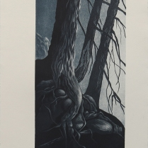 Untitled; Lithograph, Etching; Object size: 556 x 304 mm