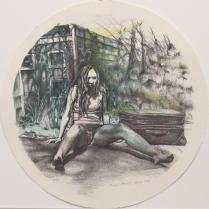 "Rachel Heberling; Ruined, 2014; Paper size: 370 mm diameter; from the portfolio, ""Mondo Tondo"""
