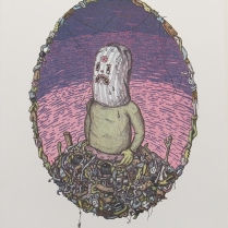 "Nathan Pietrykowski; Pile Panic, 2014; Lithograph; Paper size: 348 x 279 mm; from, ""Trash: A Printmaking Portfolio Exchange"""