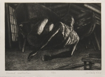 "John McKaig; Forward Construction, 2014; Etching; Paper size: 287 x 382 mm; from, ""Revival: Print Exchange"""