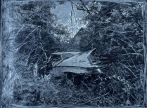 Unfinished Business (Mississippi), 1989; Silver gelatin print, graphite, silver Prismacolor, gesso; Object size: 888 x 1192 mm