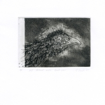 Self Portrait with Comb-over, 2007; Etching, aquatint; Object Size:244 mm 200 mm