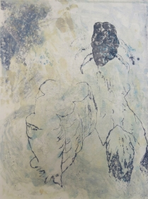 Ryan Cronk; Untitled: 2009, 2009; Trace monotype, lithograph, chine colle; Image: 759 mm x 557 mm