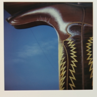 Albuquerque NM (boot), 1978; C-print; Object size: 506 x 401 mm