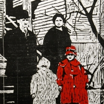 Ancestors, 1965; Woodcut; Object size: 753 x 612 mm