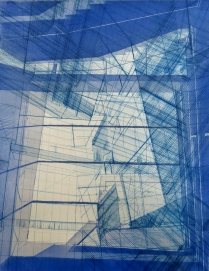 Architectural Possibles (Folding no. 1), 2015; Intaglio, etching, drypoint, engraving; Object size: 710 x 596 mm