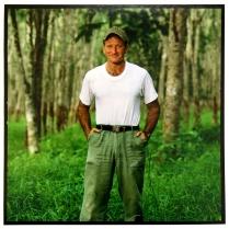Robin Williams, 1986, 2015; Archival Inkjet Image size: 493 x 508