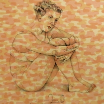 Pink Camouflage; Lithograph; Image Size: 354 x 280