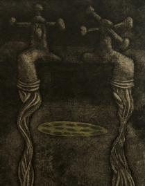 Will it Float?, 2010; Etching, relief; Image size: 256 x 200