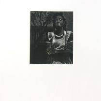 Her Prime, 2012; Mezzotint, gold leaf; Image size: 116 x 94