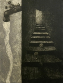 Earth and Water, 2008; Etching, all poupee; Image size: 378 x 284