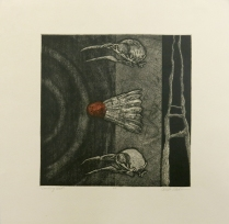 Landing West, 2004; Etching, template roll; Image size: 247 x 243