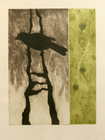 Summer Fires, 2007; Etching; Image size: 398 x 299