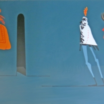 Walter Askin (born 1929); Devilish Delusions, 1998; Lithograph on paper; Gift of the Texas Tech University School of Art