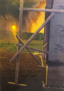 Michael Crouse (born 1949); Last Light Over Cotton Country, 1996; Lithograph on paper; Gift of the Texas Tech University School of Art