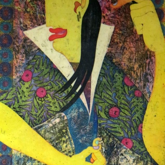 Yuji Hiratsuka (born 1954); Disguise, 1998; Intaglio on paper; Gift of the Texas Tech University School of Art