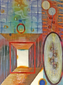 Karen Kunc (born 1952); Whole and Hollow, 1998; Woodcut on paper; Gift of the Texas Tech University School of Art