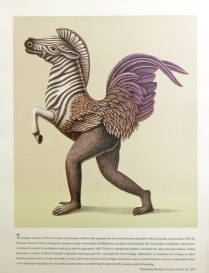 Beauvais Lyons (born 1958); Gerillagallus Equiclavatus, circa 1998; Lithograph on paper; Gift of the Texas Tech University School of Art