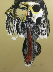 Edw Martinez; Day of the Dude Self-Portrait, 1998; Screen print on paper; Gift of the Texas Tech University School of Art