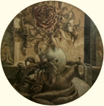 Scott Seckinger; The Garden, circa 1998; Mezzotint on paper; Gift of the Texas Tech University School of Art