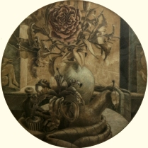 Scott Seckinger; The Garden, circa 1998; Mezzotint on paper; Gift of the Texas Tech University School of Art