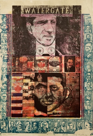 Mr. President, 1976; Relief, zinc etching, lithograph; Image size: 913 x 611 mm