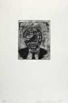 Caged, 1996; Etching; Image size: 185 x 150 mm