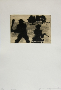 Hitter, 1996; Etching; Image size: 145 x 202 mm