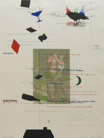 Debris from the Text--N, 1981; Lithograph; Image size: 775 x 605 mm