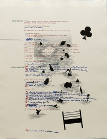Debris from the Text--I, 1981; Lithograph; Image size: 775 x 605 mm