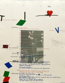 Debris from the Text--R, 1981; Lithograph; Image size: 775 x 605 mm