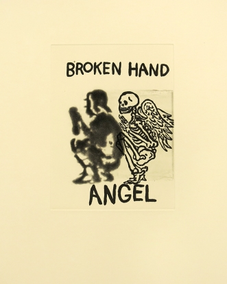 Broken Hand Angel, 2001; Etching; Image size: 303 x 225 mm