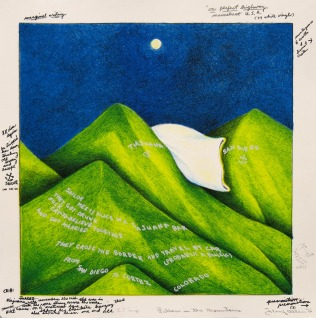 Pillow in the Mountains, from Juarez, 1976; lithograph; image and paper: 320x320 mm