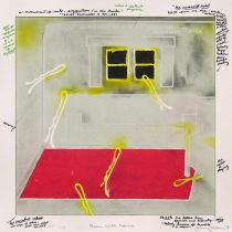 Room with Horns, from Juarez, 1976; lithograph; image and paper: 320x320 mm