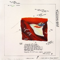 Pillow in the Mountains II, from Juarez, 1976; lithograph; image and paper: 320x320 mm