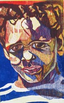 Barrett in Three Color, 1992; Woodcut; Image size: 967 x 669 mm