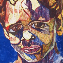 Barrett in Three Color, 1992; Woodcut; Image size: 967 x 669 mm