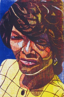 Gloria, 1995; Woodcut 2/20; Image size: 913 x 610