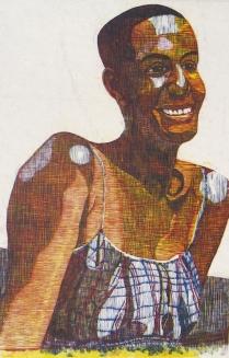 Mara Almost 20, 1999; Woodcut; Image: 935 x 635 mm