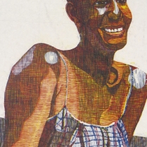 Mara Almost 20, 1999; Woodcut; Image: 935 x 635 mm
