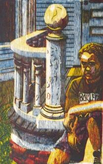 Taking the Sun, 1995; Woodcut 2/20; Image size: 976 x 605 mm
