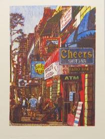 E 6th St, 2014; Woodcut; Image size: 910 x 594 mm