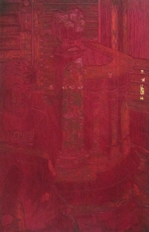 Taking the Sun, 1995; Woodcut matrix; Image size: 963 x 610 mm