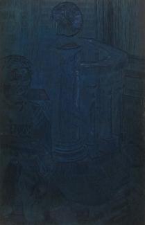 Taking the Sun, 1995; Woodcut matrix; Image size: 962 x 609 mm